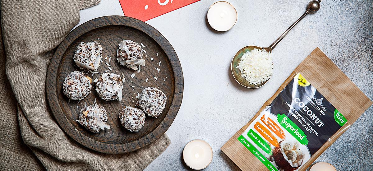 Конфеты со снегом из кокоса